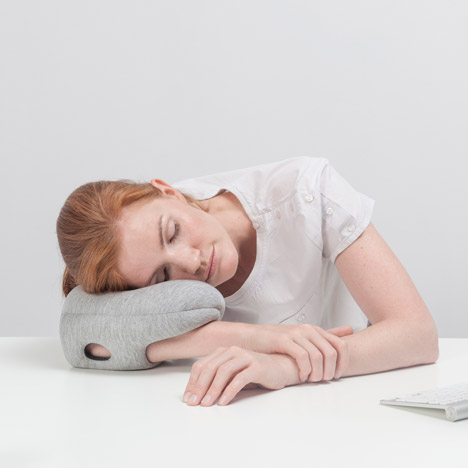 Ostrich Pillow Mini by Studio Banana Things enables napping on the go