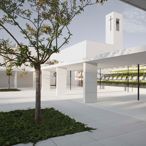"Elsa Urquijo's campus for a Spanish charity is made up of ""serene"" white buildings"
