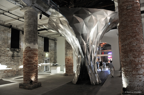 Arum by Zaha Hadid, material and fabrication Technology by Gregory Epps, RoboFold