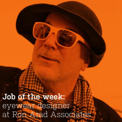 Job of the week: eyewear designer at Ron Arad Associates