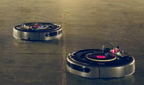 Robotic vacuum cleaners perform a Viennese Waltz at Biennale Interieur 2014