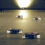 Robotic vacuum cleaners perform a Viennese Waltz at Biennale Interieur 2014