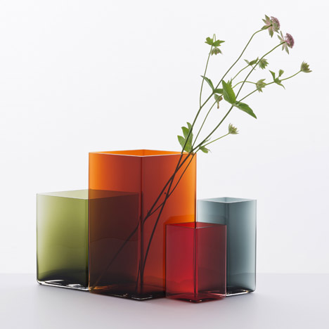 Ruutu vases by Bouroullec brothers for Iittala