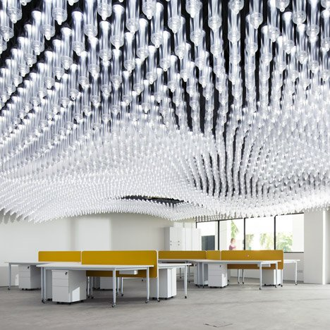 "Singapore university research centre ceiling consists of ""6,000 moveable lights"""