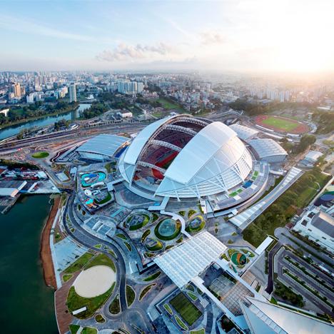 Singapore national stadium boasts world's largest free-spanning dome
