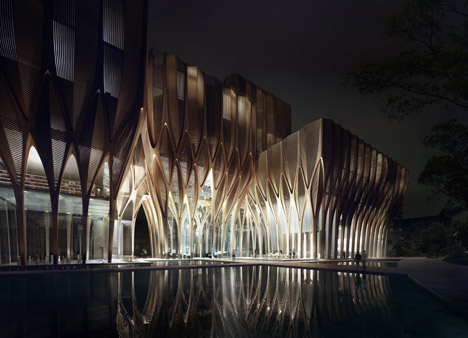 Sleuk Rith Institute designed by Zaha Hadid Archiects