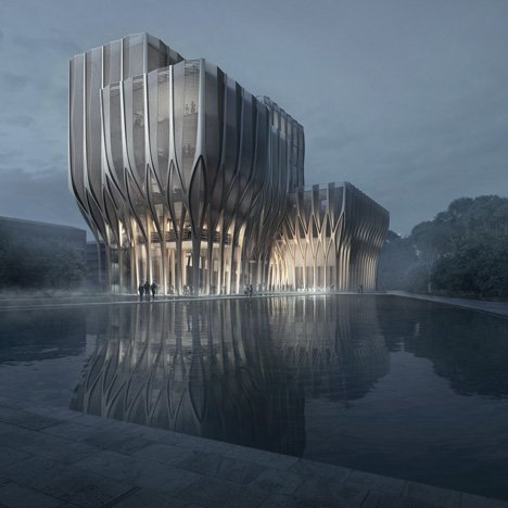 Zaha Hadid designs a wooden building for Cambodian genocide researchers
