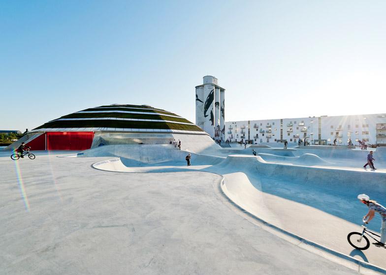 Street Dome skate park by Cebra