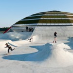 "CEBRA's sports centre ""grows like a mushroom"" from concrete skate park by Glifberg+Lykkeskate"