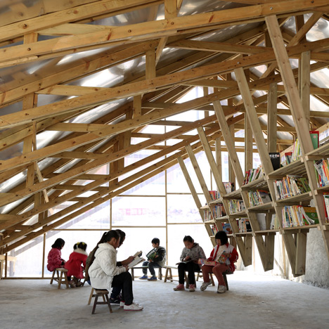 Small Project of the Year 2014 award goes to a community library with a rooftop playground