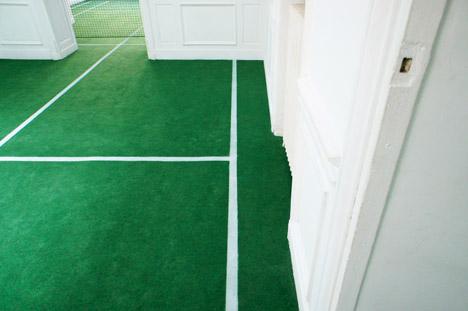 Tennis court installation Benedetto Bufalino