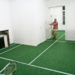 Benedetto Bufalino transforms a former apartment into a tennis court