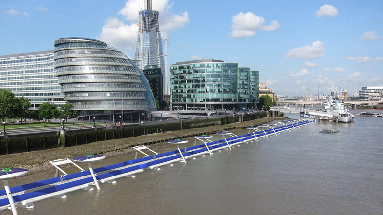 Thames deckway by River Cycleway Consortium