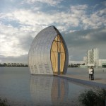 Zinc-clad chapel by René van Zuuk to be built over Almere's city lake
