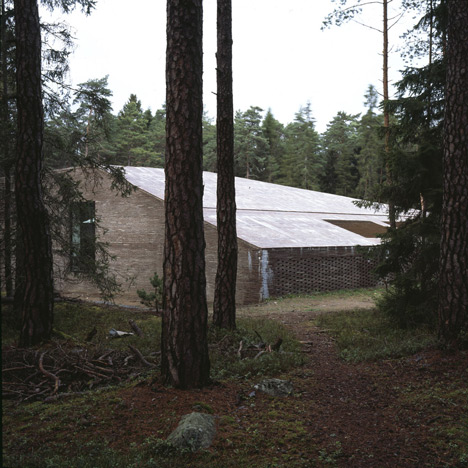 Johan Celsing's red-brick crematorium follows the terrain of Asplund's Woodland Cemetery