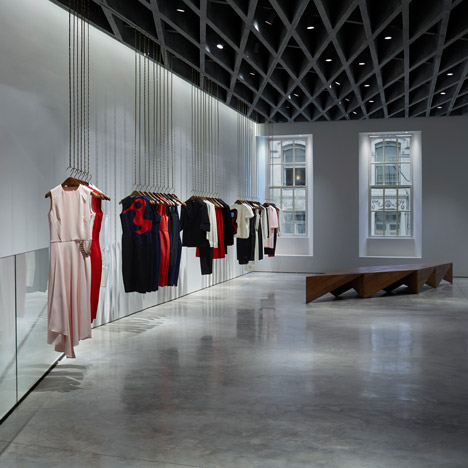 Farshid Moussavi designs London shop interior for Victoria Beckham