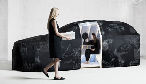 Van Eijk & Van der Lubbe's driverless fabric car concept for Volvo