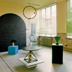 Pool exhibits geometric furniture in former school for Biennale Interieur 2014