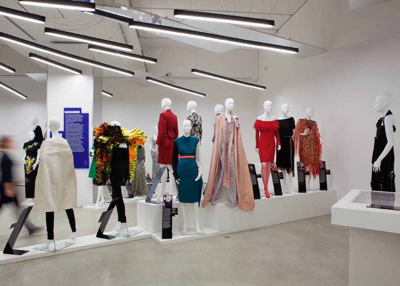 Women Fashion Power exhibition at the Design Museum designed by Zaha Hadid