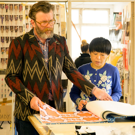 Mark Eley (left) and Wakako Kishimoto (right) in their south London studio