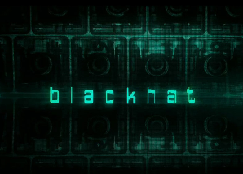 Blackhat title card by Neville Brody