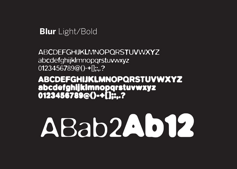 Blur typeface by Neville Brody