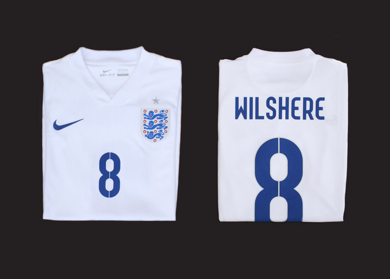 England 2014 Nike football kit by Neville Brody