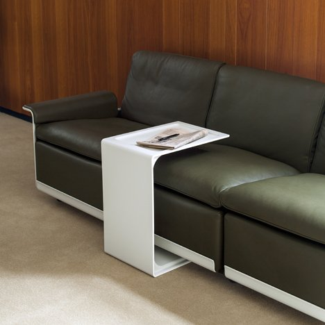 The 621 Side Table can fit around a couch when turned on its side