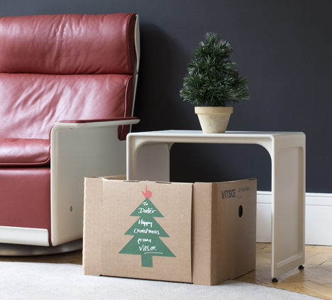 Customers can request Christmas packaging at the vitsoe.com checkout