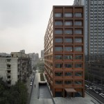 David Chipperfield's Moganshan Road office building features an all-copper facade