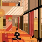 Federico Babina imagines film stars living inside famous architect-designed houses