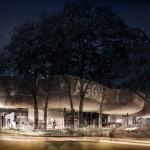 """Gallery extension proposal by 5468796 """"recreates the quality of light of a rainforest"""""""
