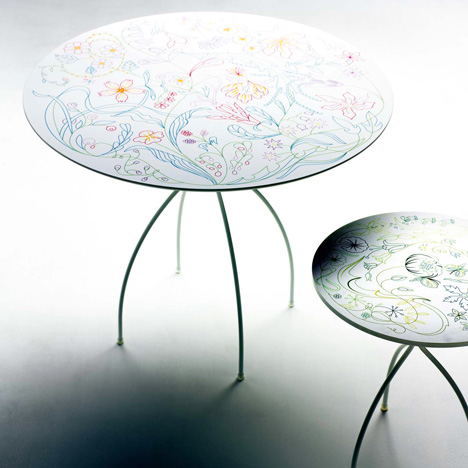 Bon Bon tables by Tord Boontje for Moroso
