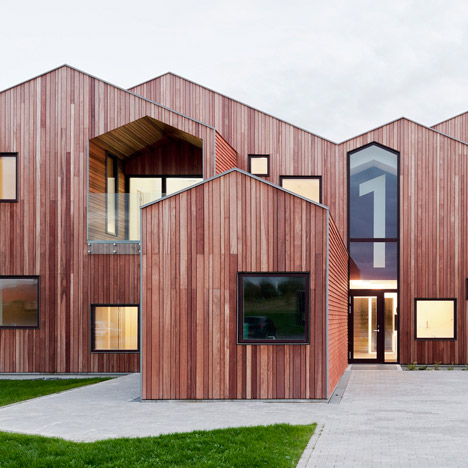 CEBRA's children's home forms a cluster of archetypal house silhouettes