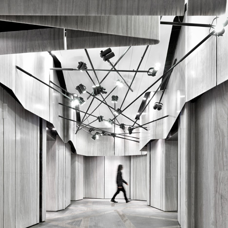"Black-and-white Hong Kong cinema interior evokes ""old movies"""