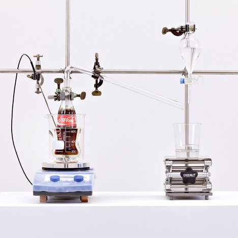 The Real Thing Coca Cola distillation machine by Helmut Smits