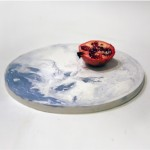Alessia Giardino designs tableware collection made from dyed concrete