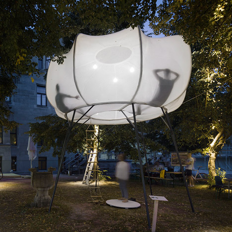 Cumulus installation by Burg Giebichenstein University of Art and Design graduates