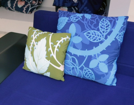 Decorative cushions by Tord Boontje for Moroso