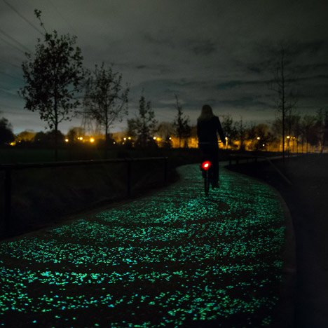 Daan Roosegaarde's glowing Van Gogh cycle path to open in the Netherlands