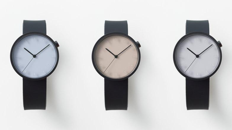 Nendo's second Draftsman watch is based on circular stencils