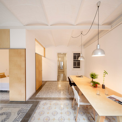 Adrian Elizalde renovates 1930s tiled apartment in Barcelona