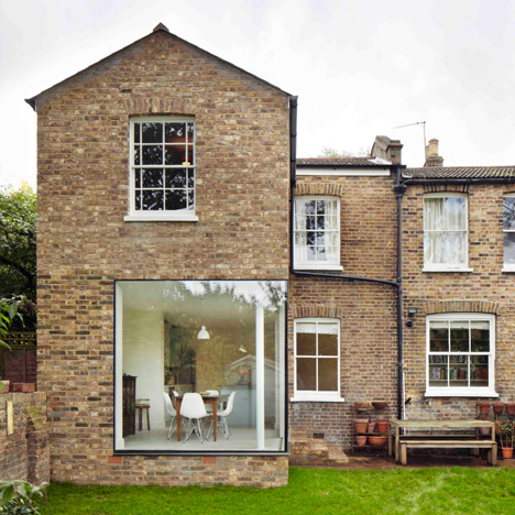 London house extension by Cousins and Cousins has a window wrapping its corner