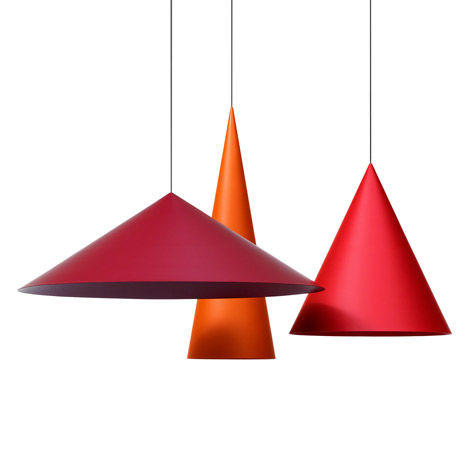 Claesson Koivisto Rune designs giant conical pendant lamps for Wästberg