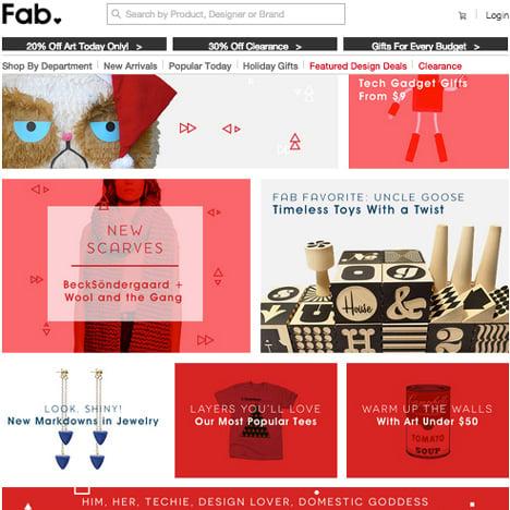 Fab.com homepage