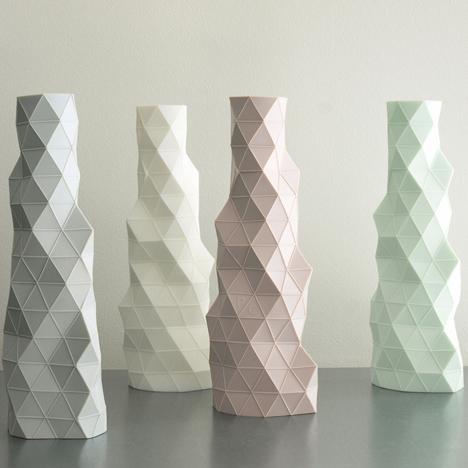 Faceture bud vase/candleholder