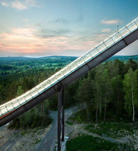 Falun ski jumps by Sweco Architects