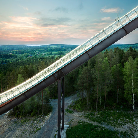 Sweco Architects modernises Swedish ski jumps ahead of 2015 world championships