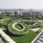 Vo Trong Nghia's Farming Kindergarten has a vegetable garden on its looping roof