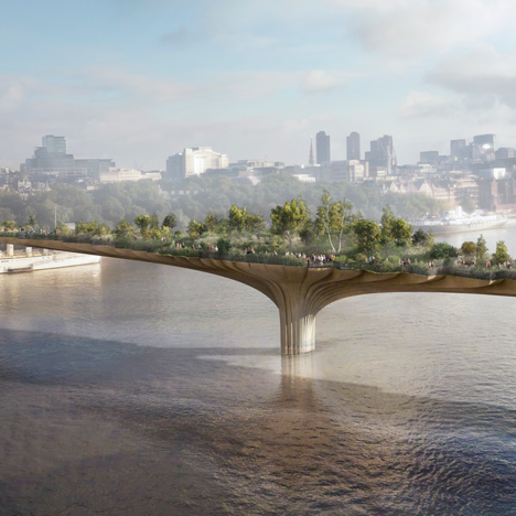 Thomas Heatherwick's proposed Garden Bridge in London